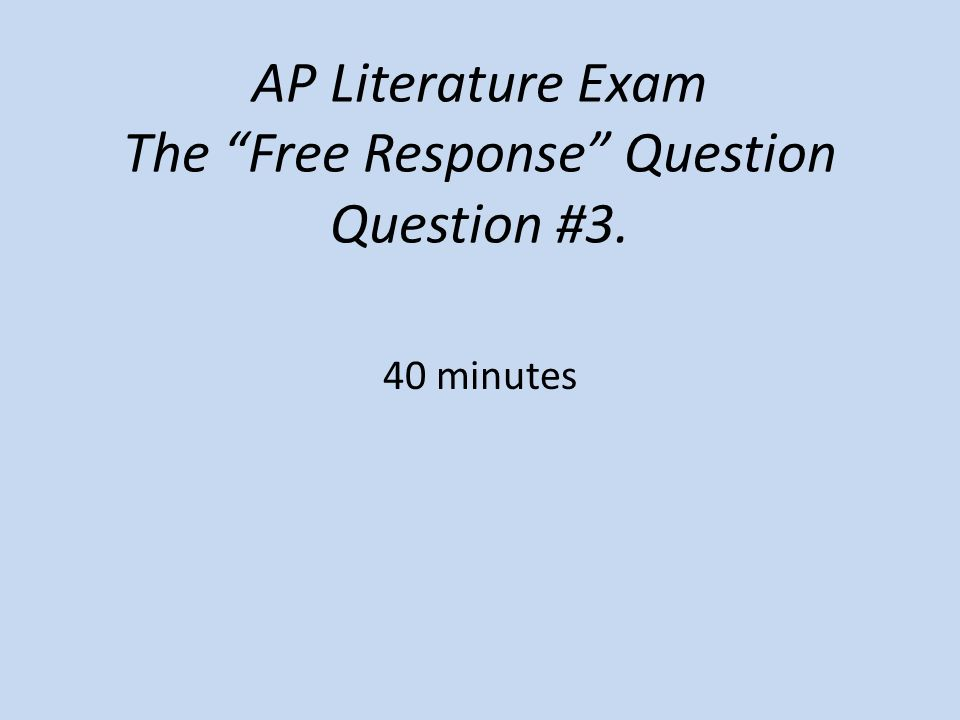ap literature essay question 3