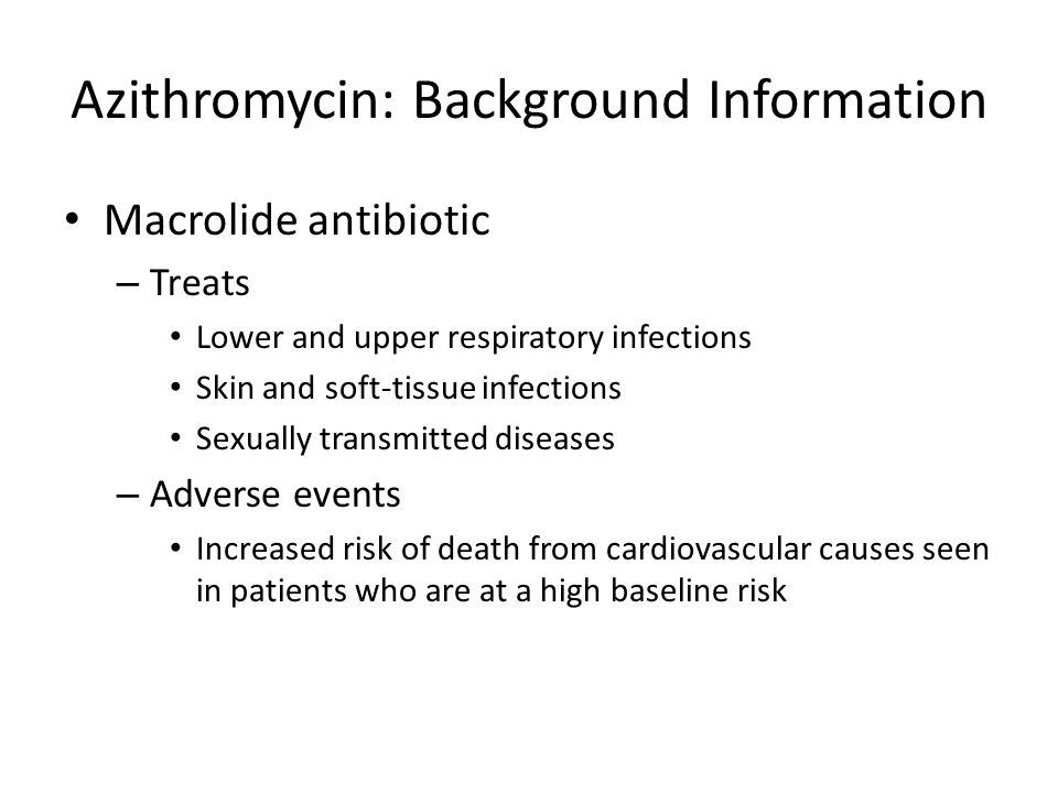Azithromycin Sexually Transmitted Diseases