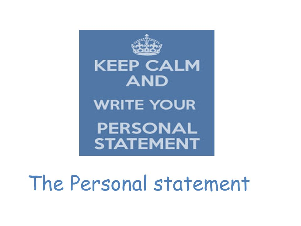 Things to include in personal statement