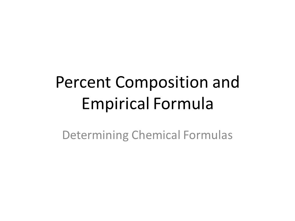 Percent Composition and Empirical Formula Determining Chemical – Chemistry Percent Composition Worksheet