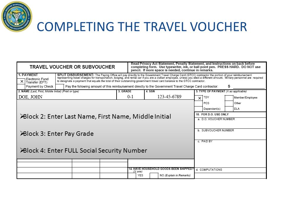 GUIDE TO COMPLETING THE TRAVEL VOUCHER DD FORM Updated October ppt ...