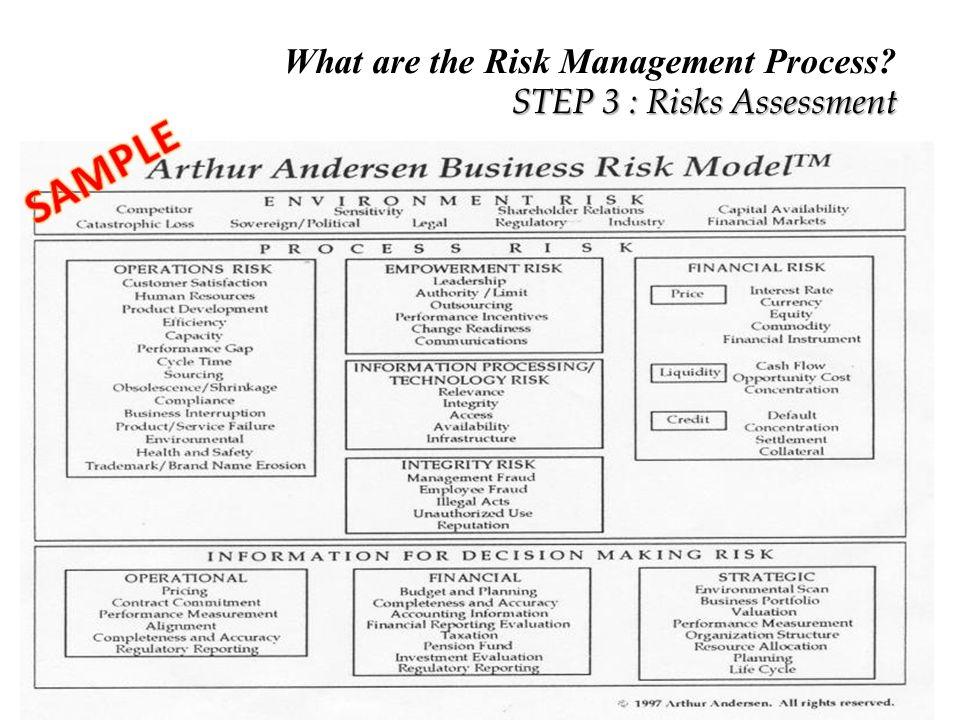 16 STEP 3 : Risks Assessment ...