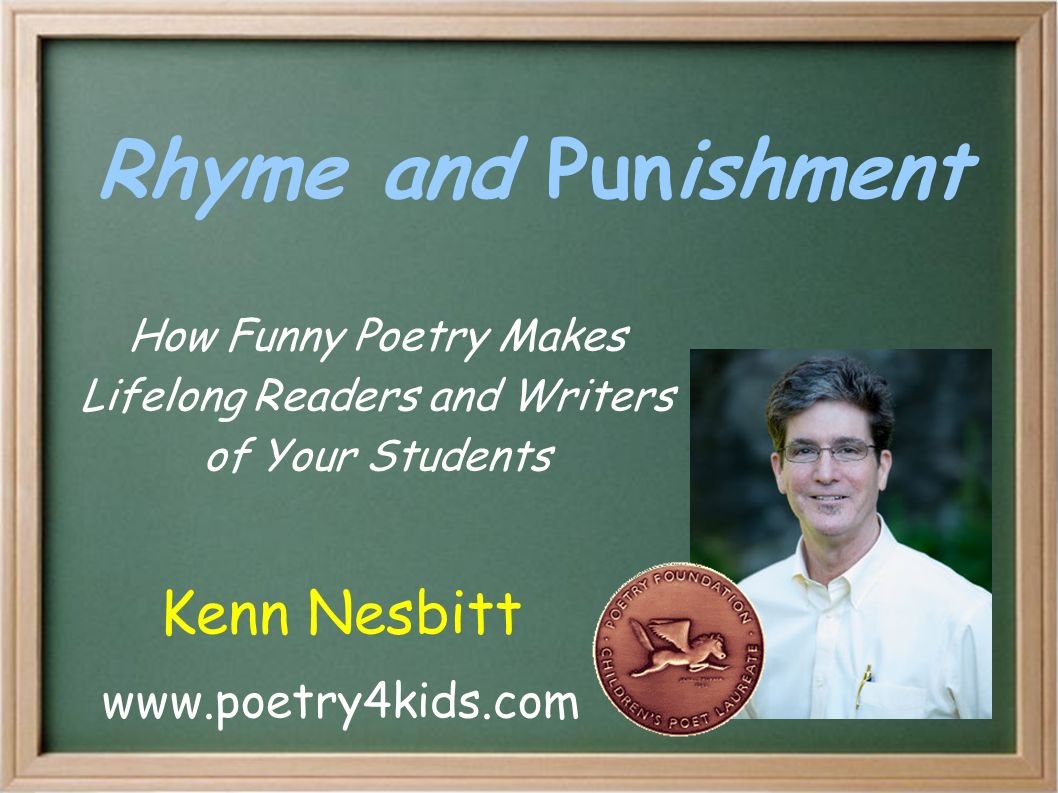 Rhyme and Punishment How Funny Poetry Makes Lifelong Readers and ...