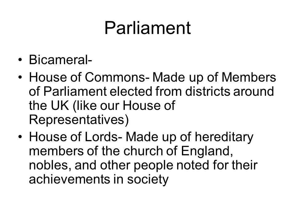 Great Britain: Who elects the House of Representatives?