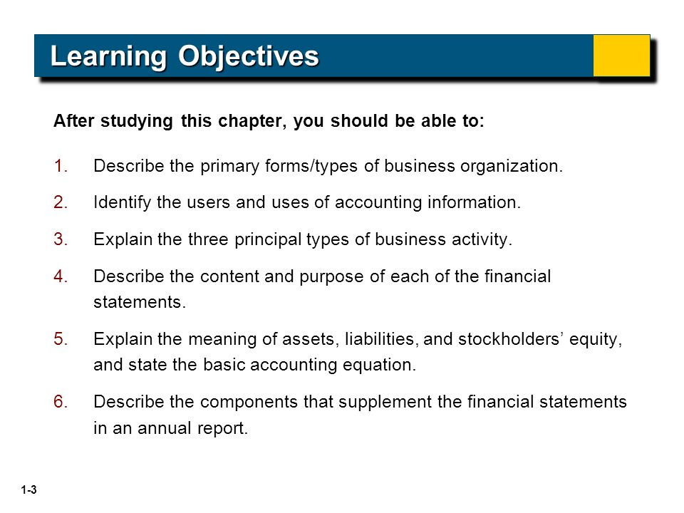 Introduction To Financial Statements Financial Accounting Seventh
