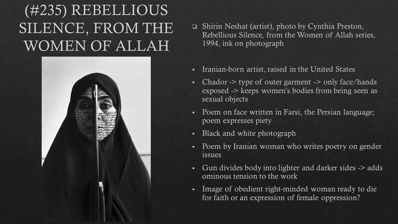 shirin neshat women of allah series
