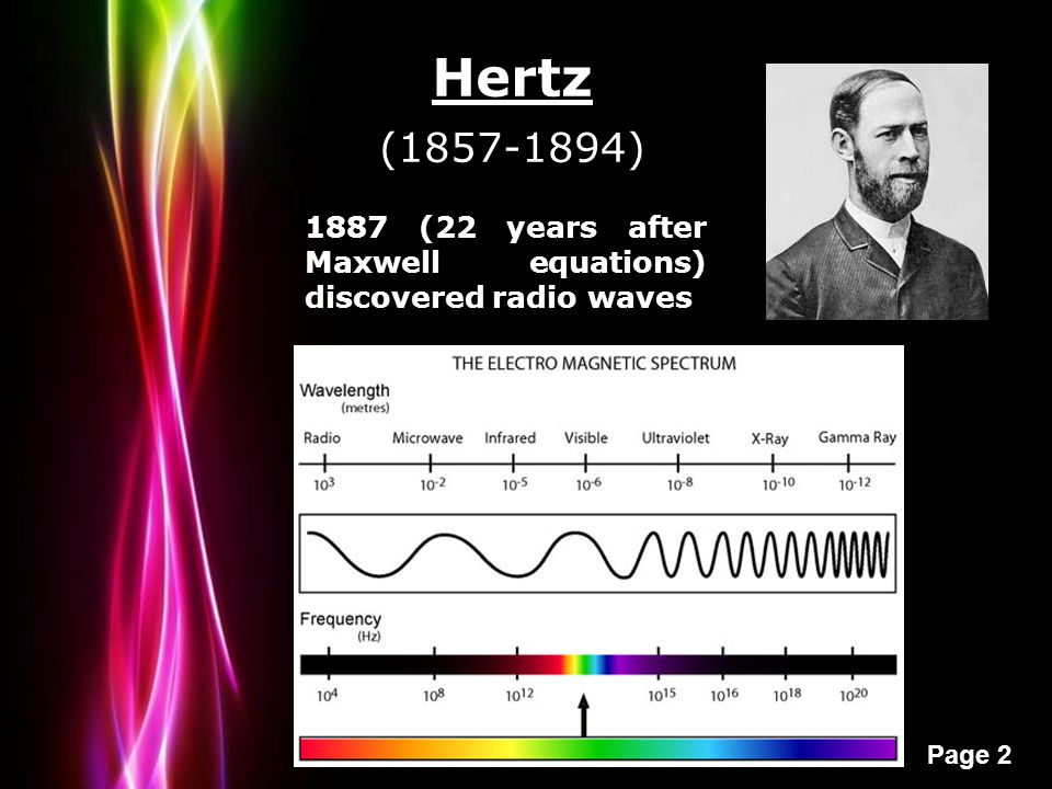 Powerpoint templates page 1 powerpoint templates electromagnetic 2 powerpoint templates page 2 1887 22 years after maxwell equations discovered radio waves hertz 1857 1894 toneelgroepblik Gallery