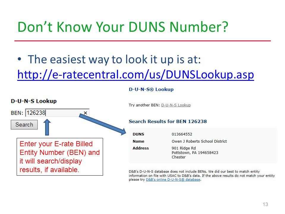 duns number check