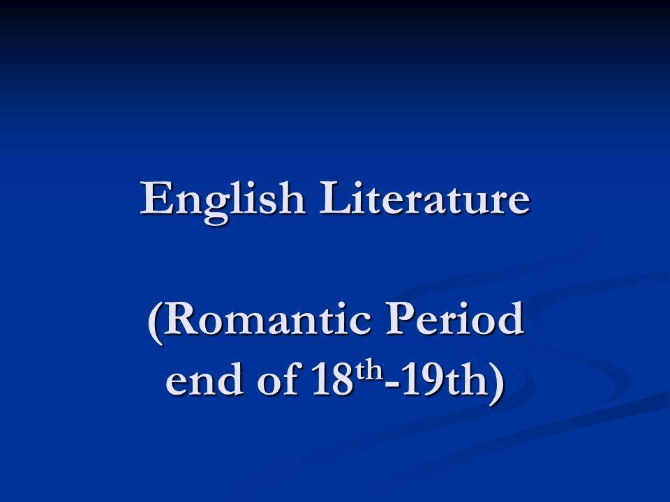 the english romantic period essay