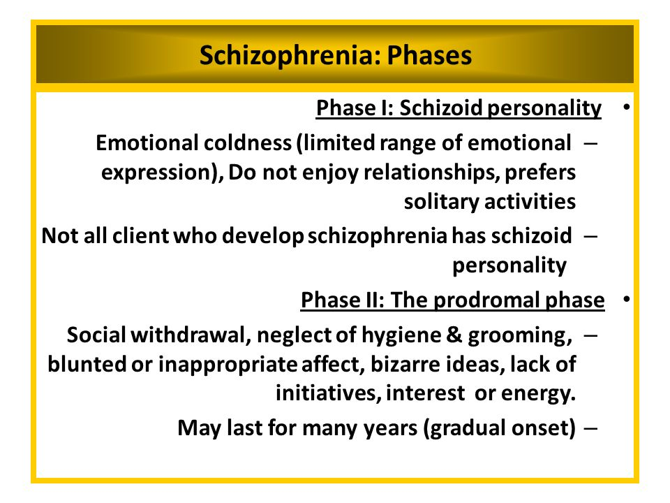 Emotional neglect contributing to schizophrenia