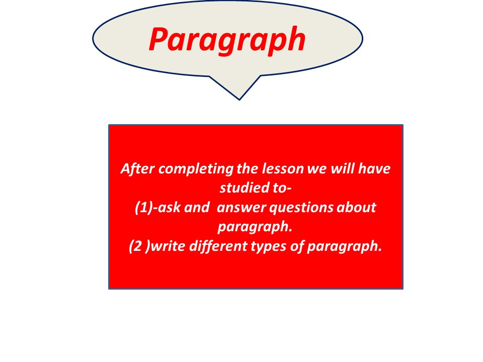 What are the different kinds of paragraph?