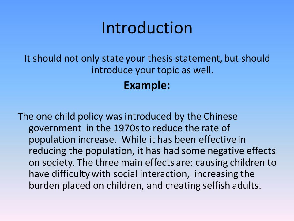 population introduction essay