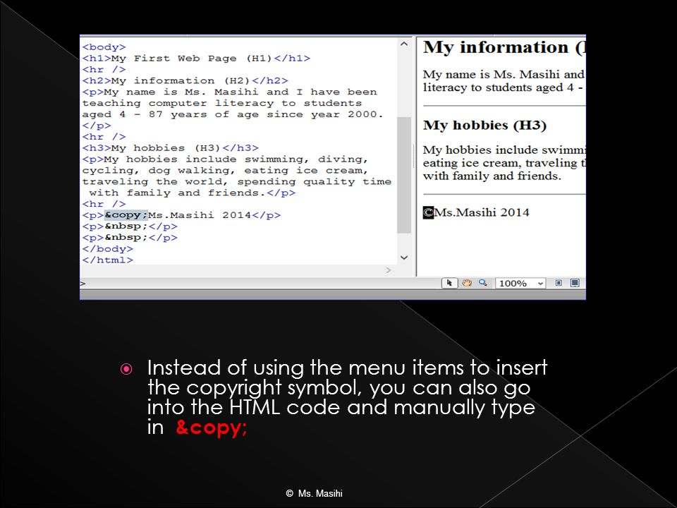 How To Write Copyright Symbol In Html Image Collections Meaning Of