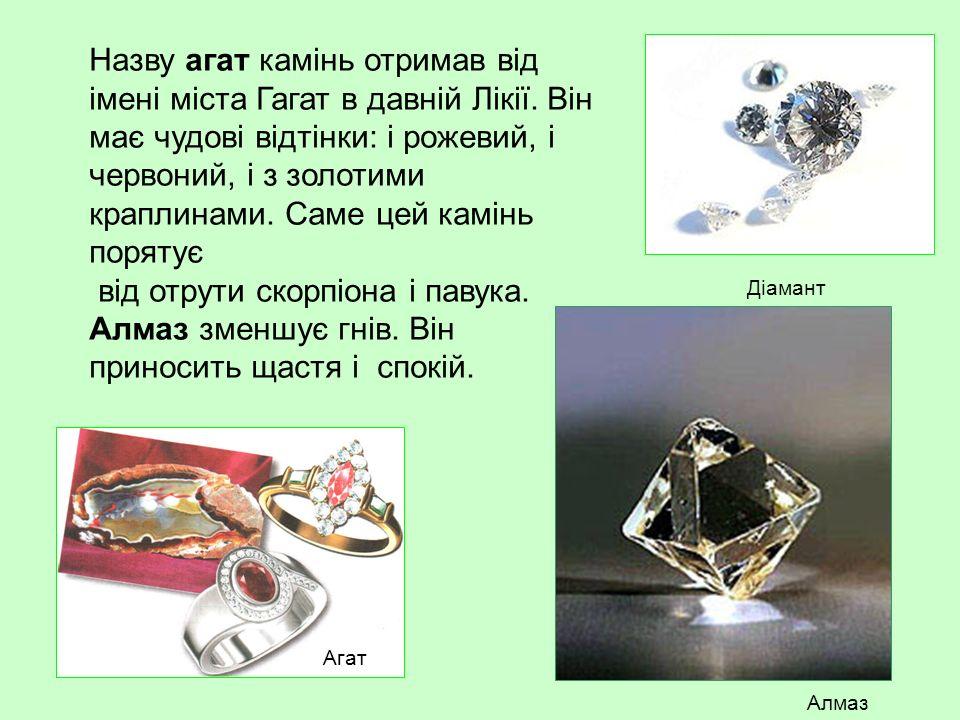 Назву агат камінь отримав від імені міста Гагат в давній Лікії.