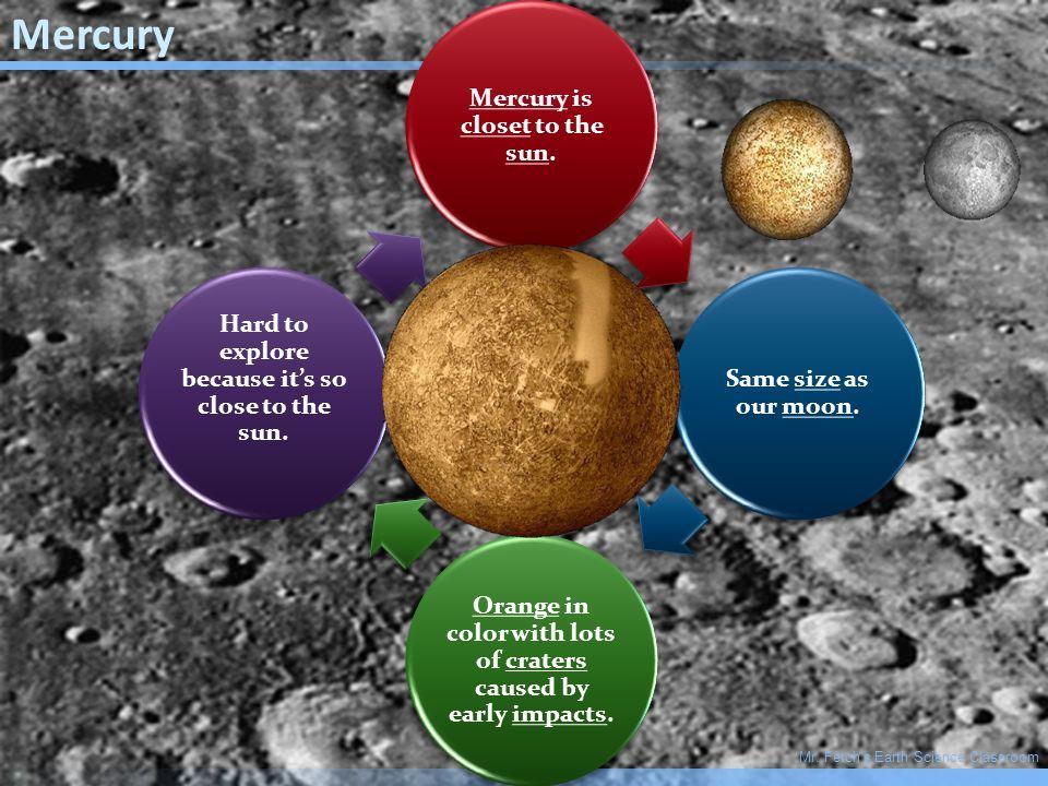 Mr. Fetch's Earth Science Classroom Inner Planets: Mercury, Venus ...