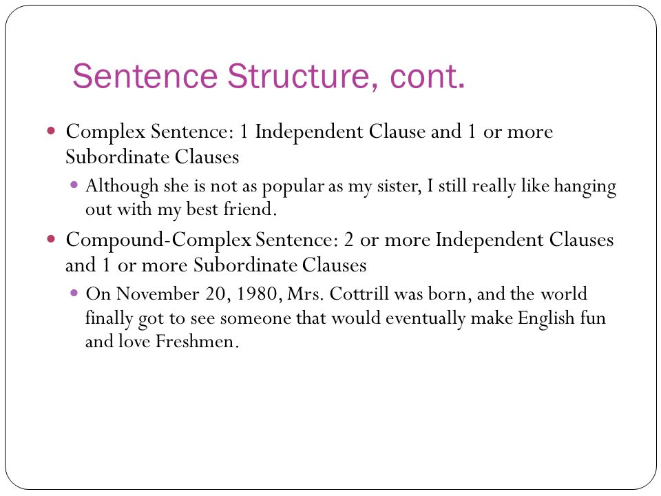 Not the Santa type…ha!) Clauses and Sentence Structures. - ppt ...