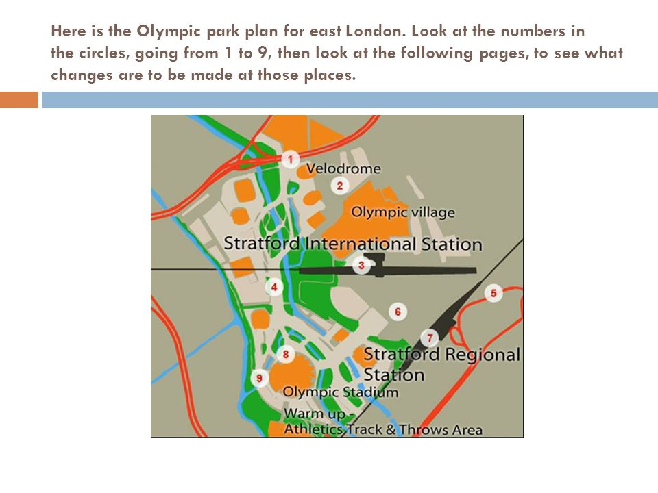 Here Is The Olympic Park Plan For East London