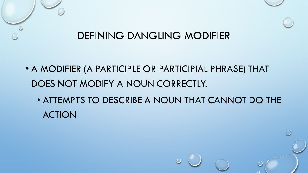 Printables Misplaced And Dangling Modifiers Worksheet misplaced and dangling modifiers worksheet davezan defining modifier a