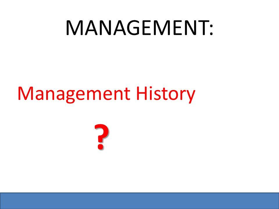 Bzupages.com MANAGEMENT: Management History