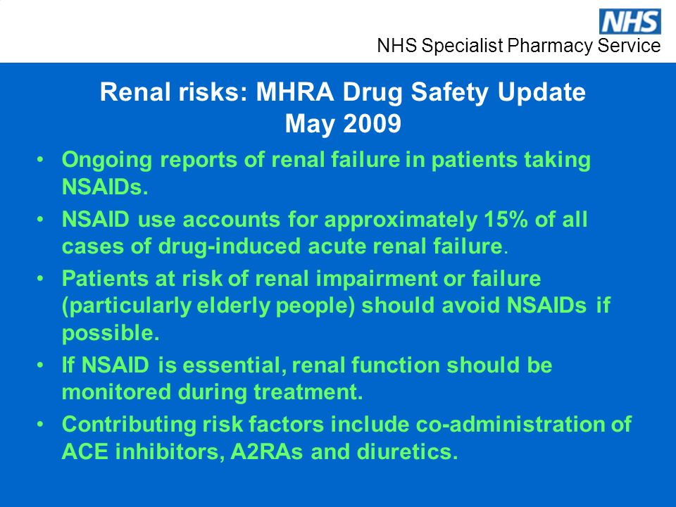 NHS Specialist Pharmacy Service NSAIDS – efficacy and safety Expert ...