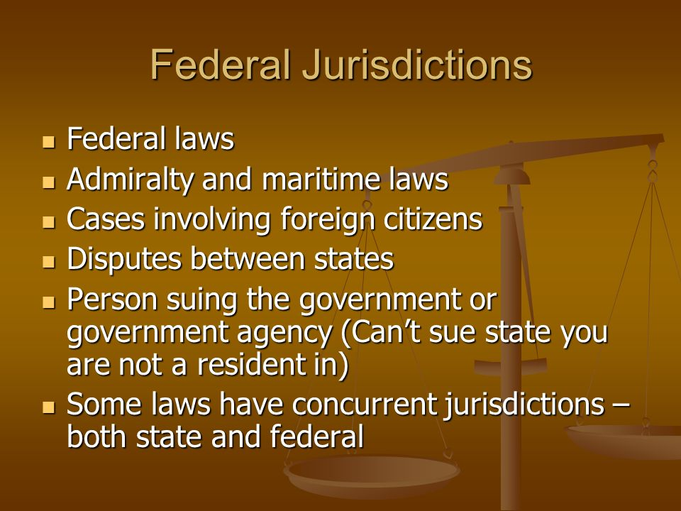Federal Jurisdictions Federal Laws Federal Laws Admiralty And Maritime Laws Admiralty And Maritime Laws Cases Involving