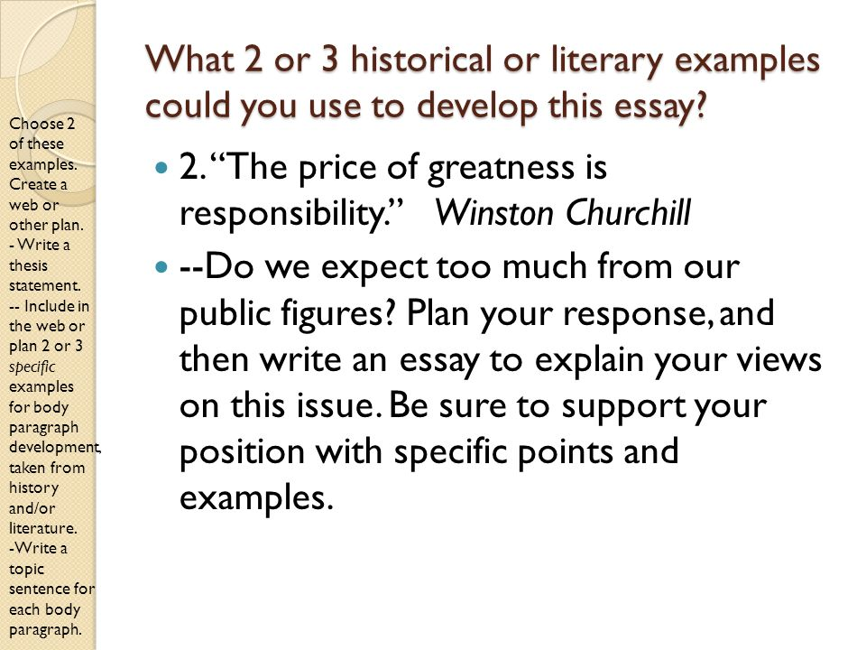 literature examples for sat essay