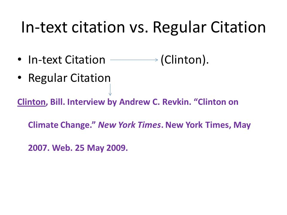 What are in text citations and how do i use them?