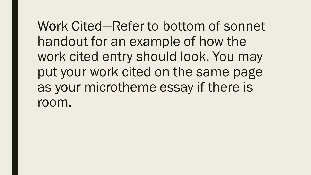 using mla to cite poetry plus microtheme format ppt 12 work cited refer