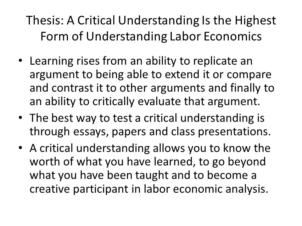 california labor thesis Labor commissioner's office frequently asked questions employment status employment relationship - family members/minors  independent contractors.