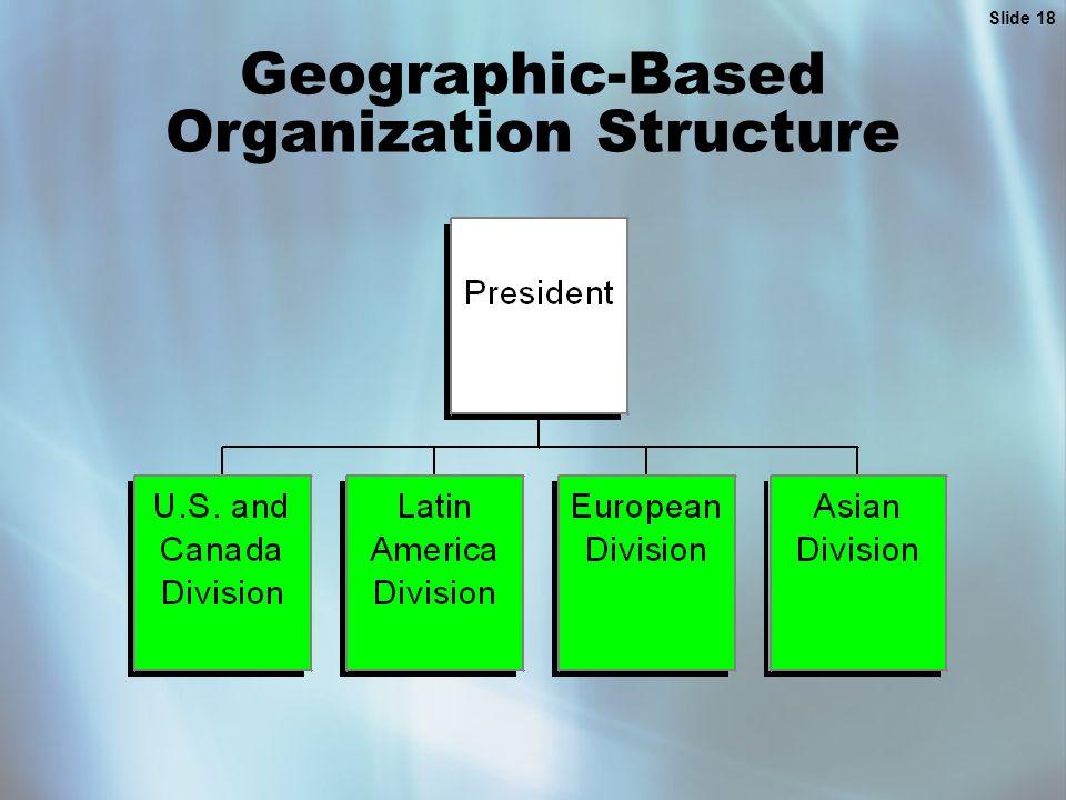 Slide 18 Geographic-Based Organization Structure