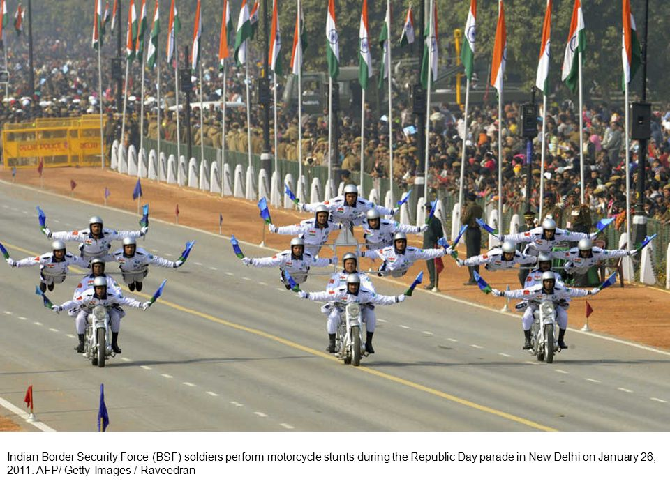 An Indian serviceman salutes during a ceremonial parade at Secunderabad, the twin city of Hyderabad, on January 26, 2011.