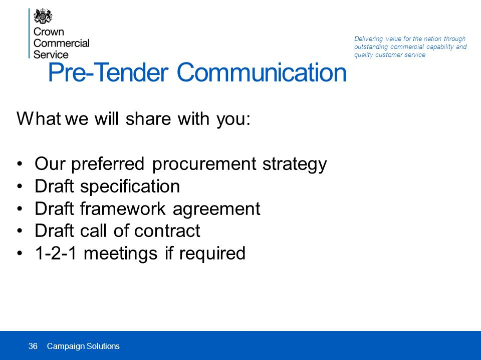 RM3774 Campaign Solutions Agency PreMarket Engagement Event Date – Service Agreement Draft