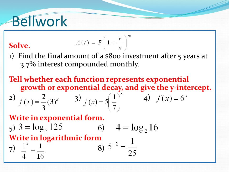 How To Find Exponential Form Mersnoforum