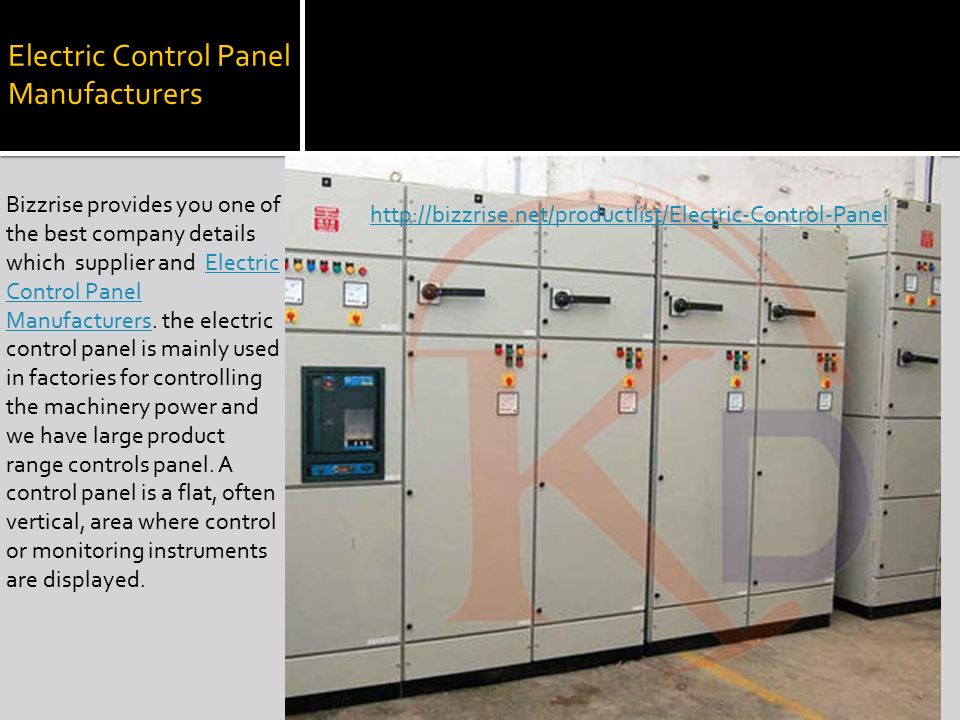 INDUSTRIAL PRODUCTS MANUFACTURERS IN INDIA. Electric Control Panel ...