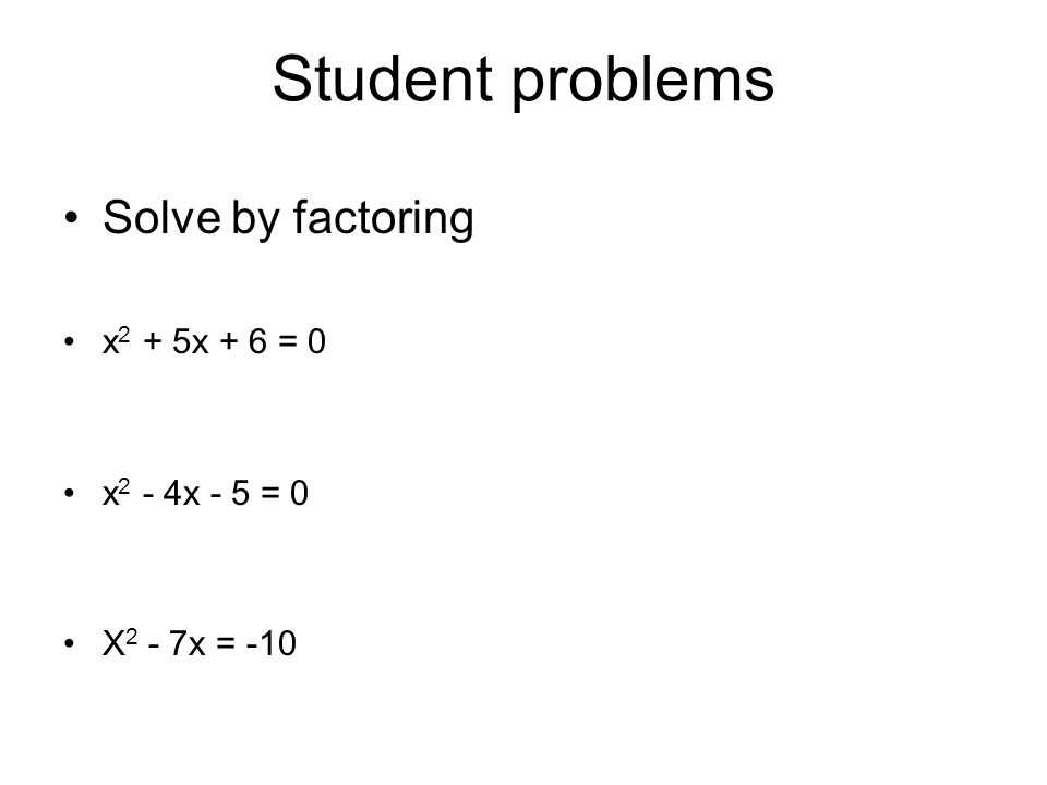 Algebra 1 Section 105 Factor quadratic trinomials and solve – Factoring Ax2 Bx C Worksheet Answers
