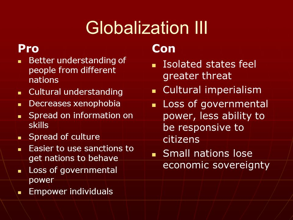 globalization or cultural imperialism essay This essay will provide a brief cultural globalization involves processes of unequal power, which brings traditions marxism and the new imperialism london.
