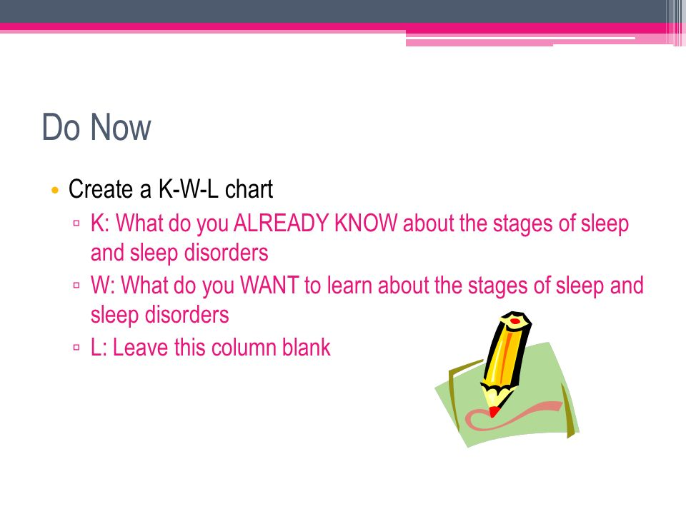 Do Now Create A KWL Chart  K What Do You Already Know About The