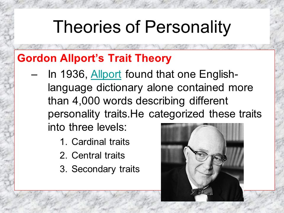 critique on gordon allport theories of In the 1950's, gordon allport introduced the intergroup-contact hypothesis in this view, intergroup contact under positive conditions can reduce social prejudice.