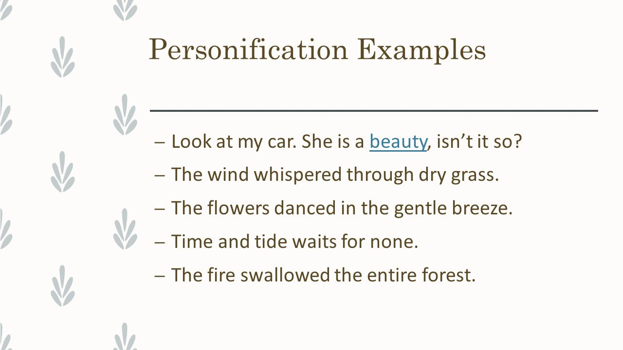 figurative language elements of style english metaphors what 10 personification