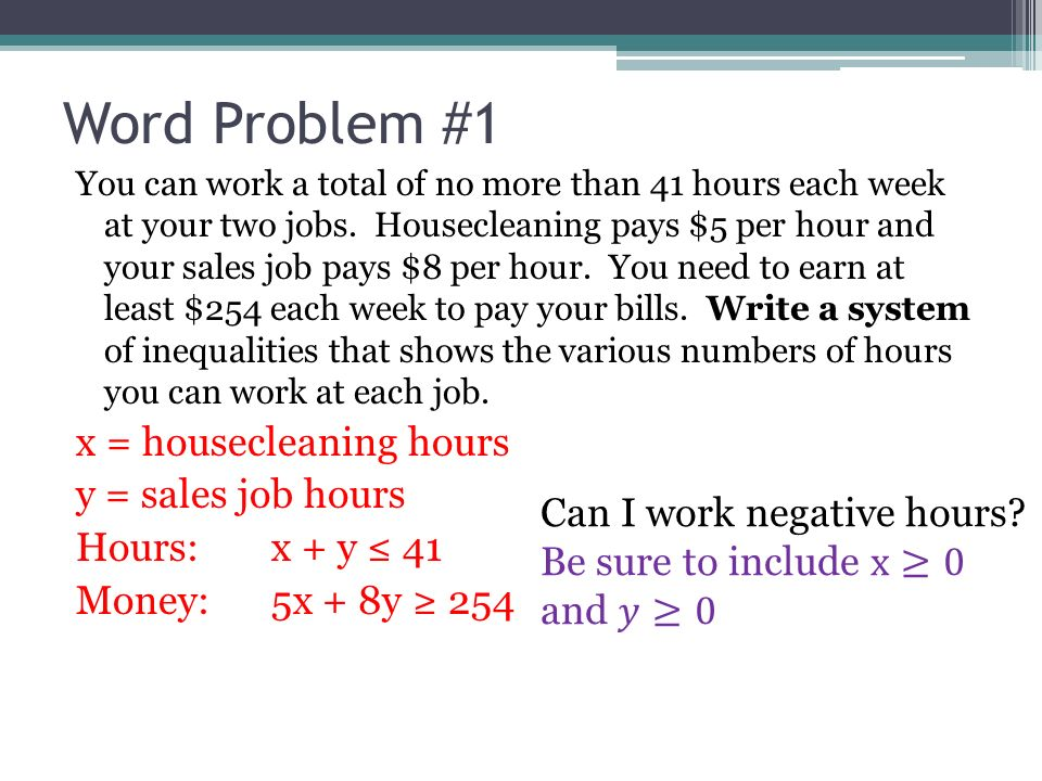 76 Systems of Linear Inequalities Word Problems Use a system of – System of Inequalities Word Problems Worksheet
