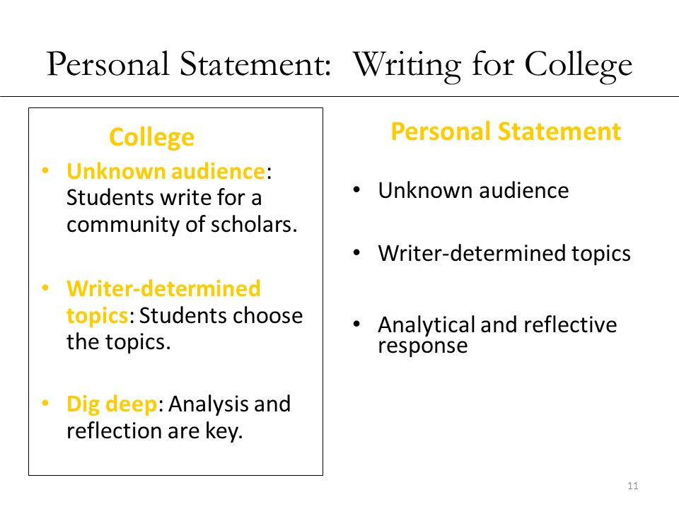 writing a personal statement for college scholarship