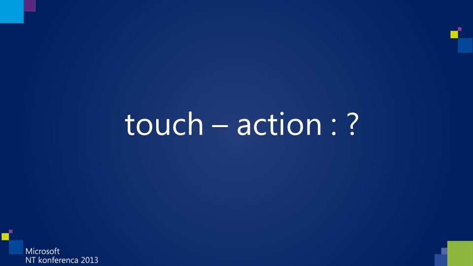 touch – action :
