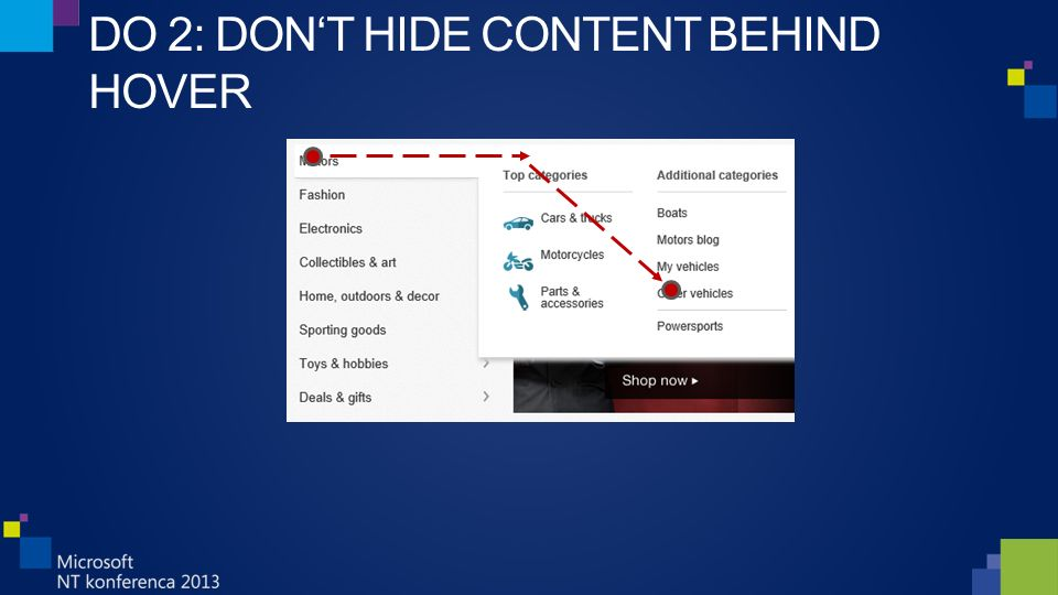 DO 2: DON'T HIDE CONTENT BEHIND HOVER