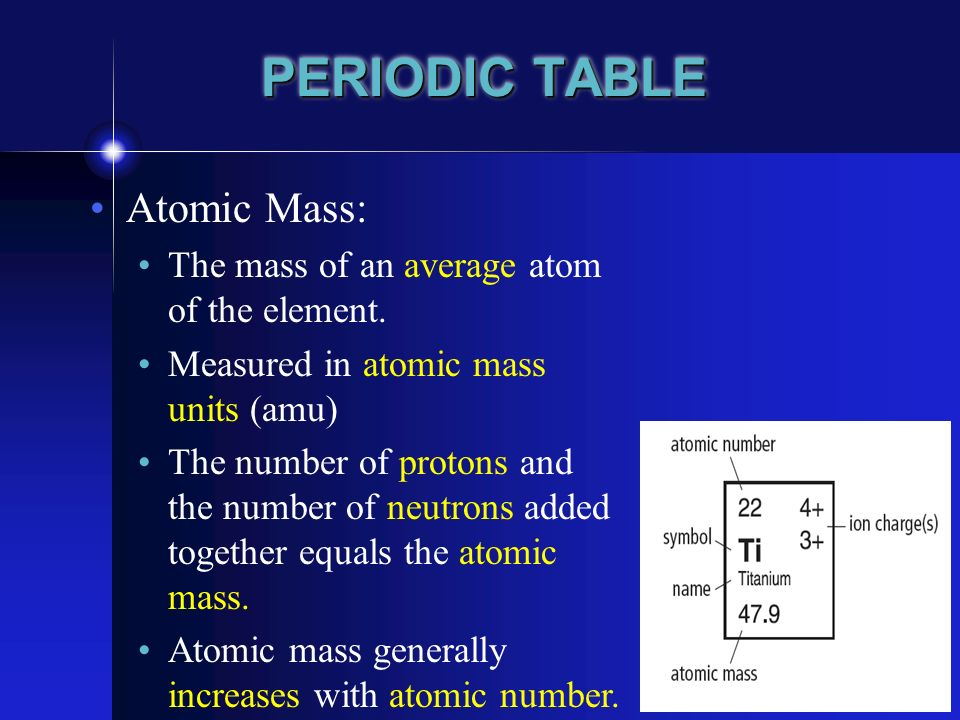 22 periodic table and chemical properties bc science 9 p ppt 5 periodic table atomic mass urtaz Images