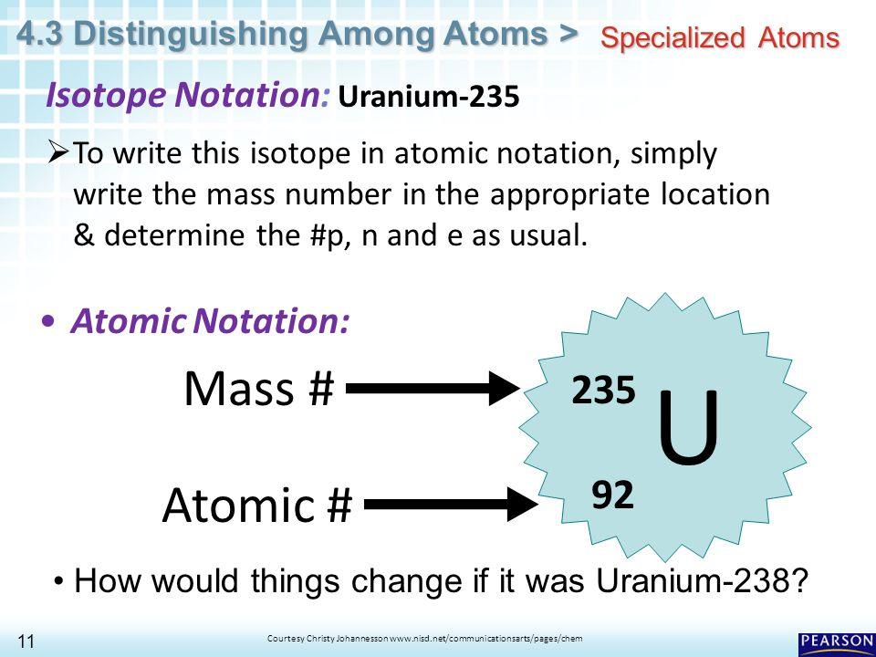 43 Distinguishing Among Atoms 1 Copyright Pearson Education