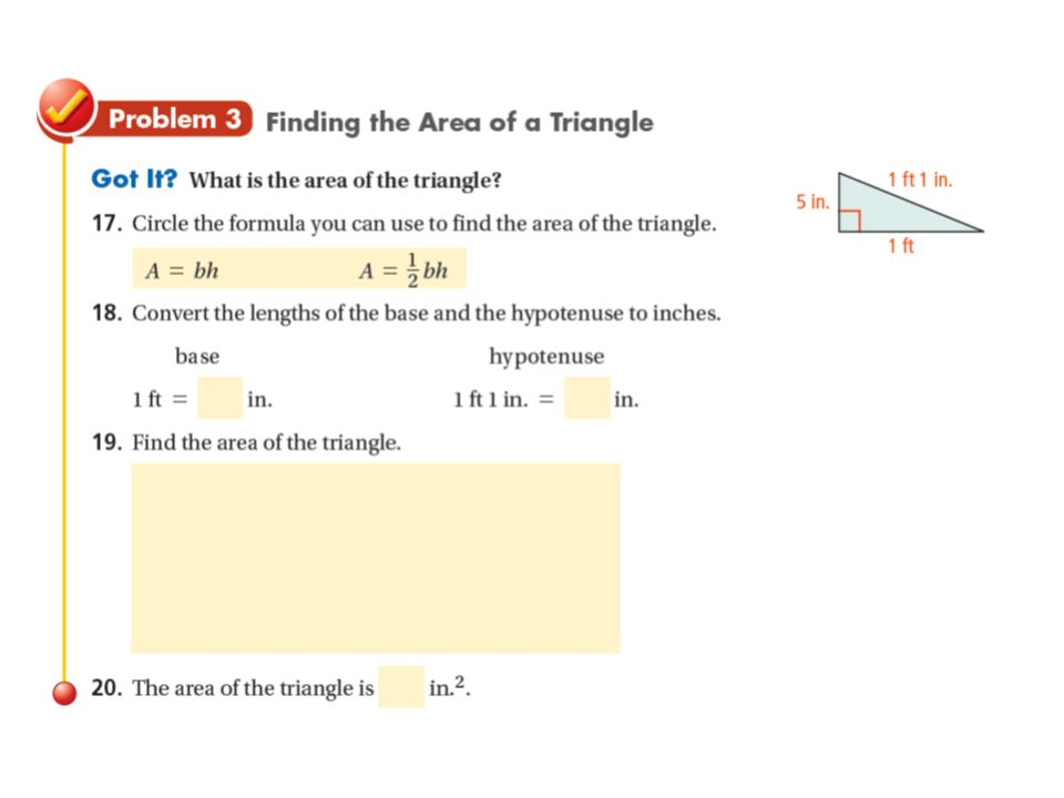 Entry task find the unknown side length in each right triangle 15 example 2b finding measurements of triangles and trapezoids find the base of the triangle in which a 15x 2 cm 2 sym prop of divide both sides ccuart Choice Image