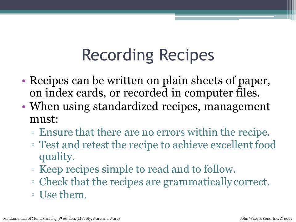 Recipes On Index Cards Militaryalicious