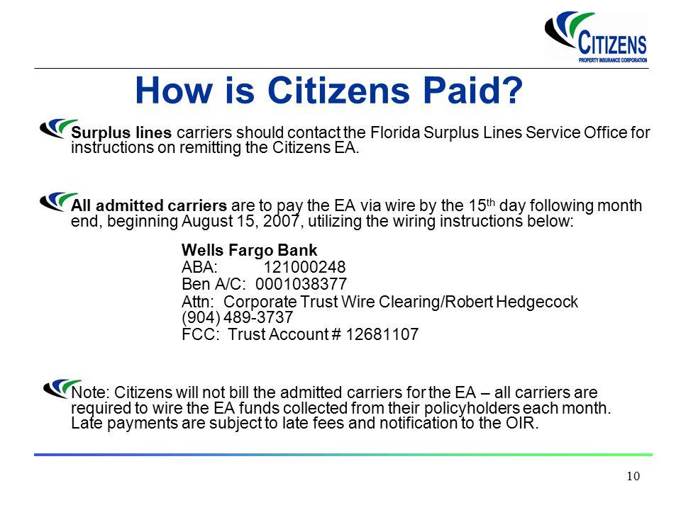 2005 Citizens Property Insurance Corporation Emergency Assessment