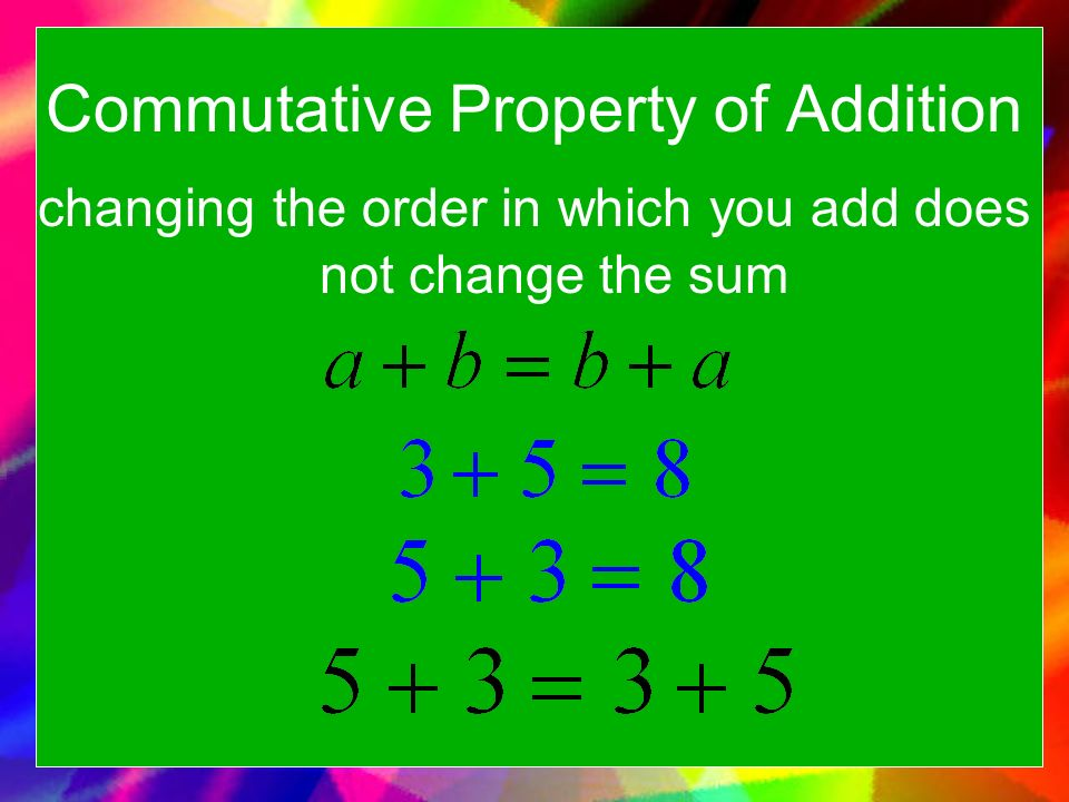 commutative properties The best source for free properties of addition and properties of each worksheet has 14 problems filling in a blank for addition problems using the commutative.