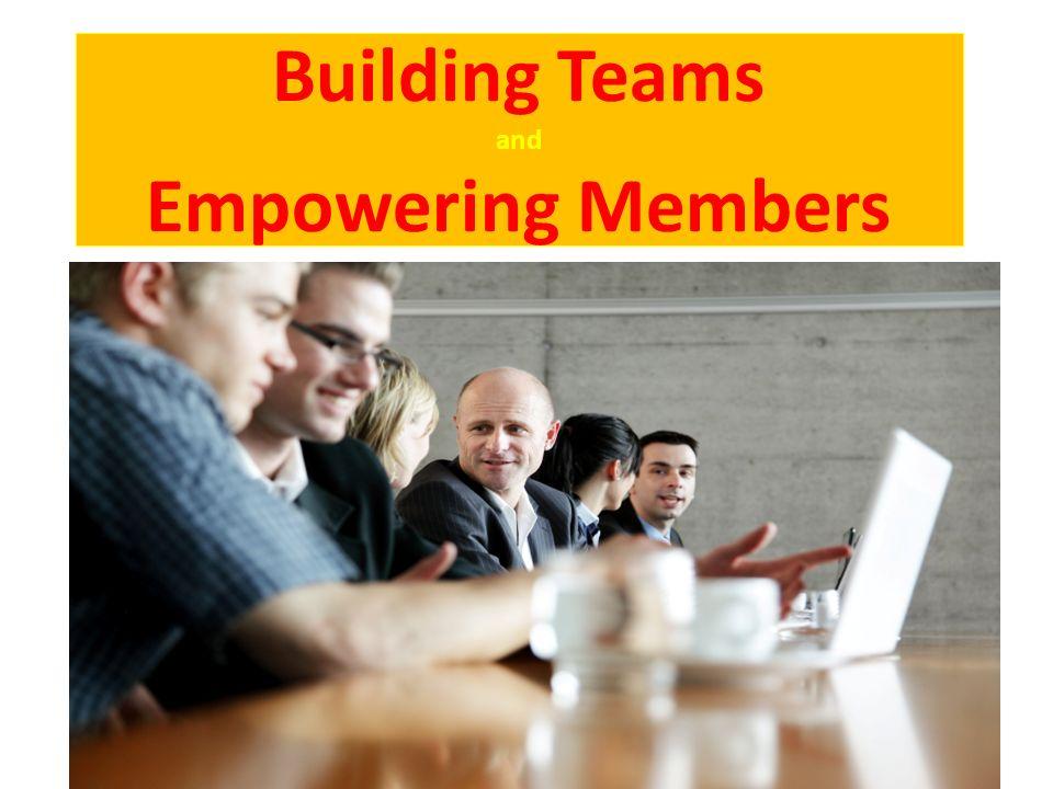 Building Teams and Empowering Members 1